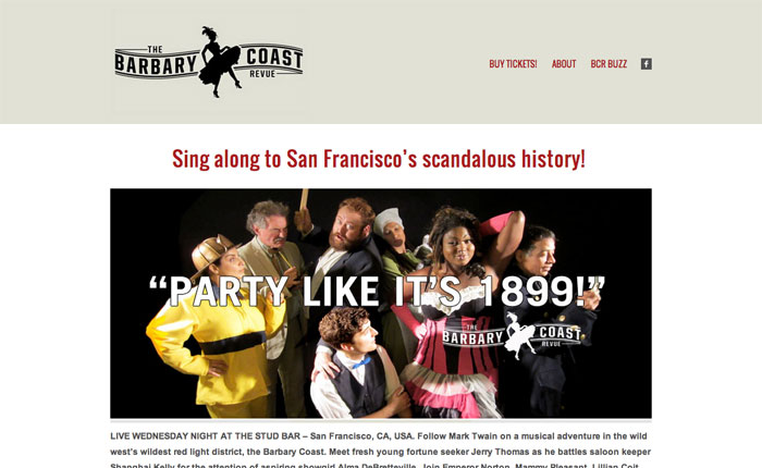the barbary coast revue home page
